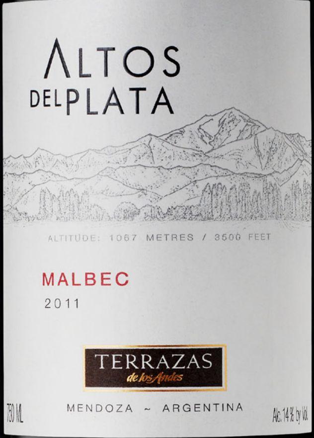 安第斯台阶普拉塔高原马尔贝克干红 Terrazas de los Andes Altos Del Plata Malbec