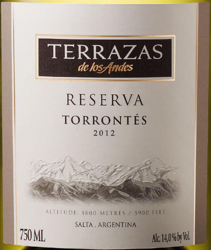 安第斯台阶珍藏特浓情干白 Terrazas de los Andes Reserva Torrontes