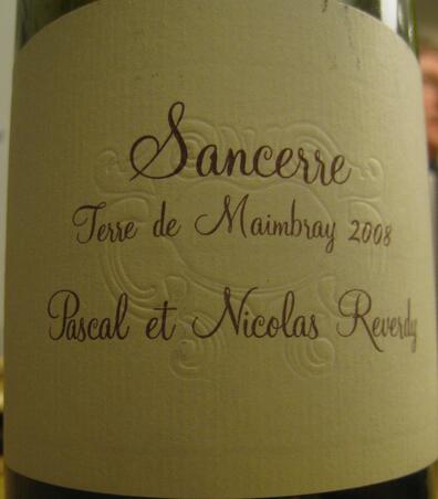帕尼勒迪门泊莱长相思干白Domaine Pascal & Nicolas Reverdy Terre de Maimbray Sauvignon Blanc