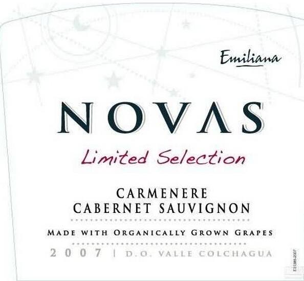 埃米利亚纳诺瓦限量版佳美娜赤霞珠干红Emiliana Novas Limited Selection Carmenere Cabernet Sauvignon