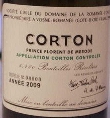 罗曼尼·康帝高登园干红Domaine de la Romanee-Conti Corton