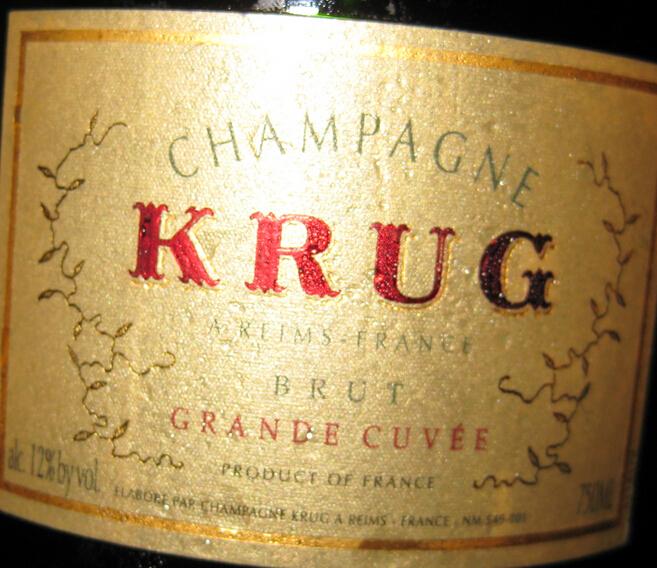 库克陈年香槟Champagne Krug Grande Cuvee