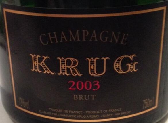库克年份香槟Champagne Krug Vintage