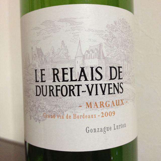 度韦酒庄副牌干红Chateau Durfort Vivens Le Relais de Durfort-Vivens