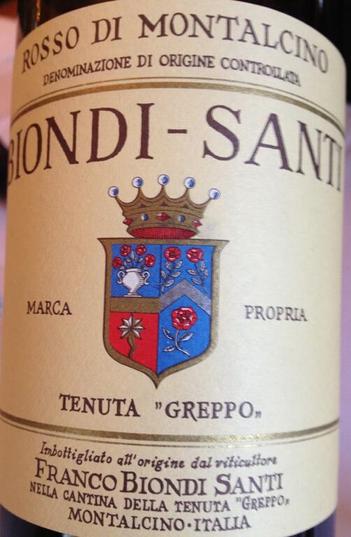 碧安帝山迪蒙塔希诺干红Biondi  Santi Rosso di Montalcino