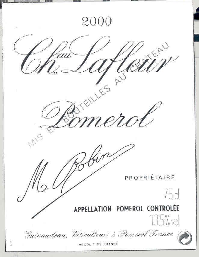 拉弗尔庄园干红Chateau Lafleur Pomerol