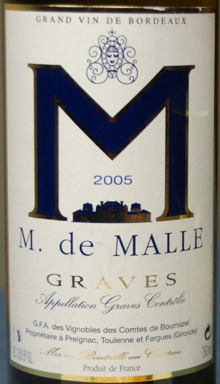 马乐酒庄干白Chateau de Malle 'M de Malle'