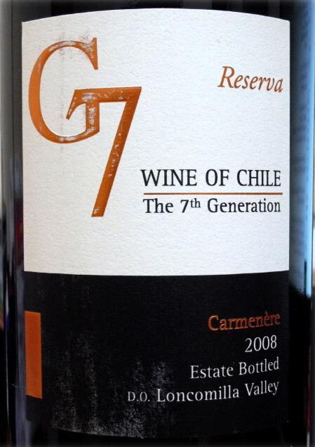 卡塔维嘉吉七珍藏佳美娜干红Carta Vieja G7 Reserva Carmenere