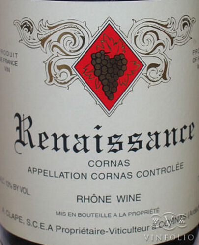 玉旒庄园复兴康那士干红Domaine Auguste Clape Renaissance Cornas
