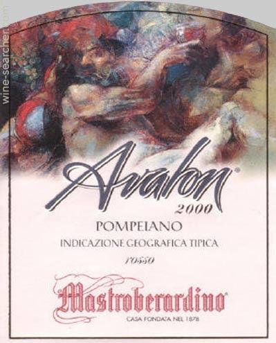马斯特巴迪洛阿瓦农干红Mastroberardino Avalon Pompeiano Rosso Campania IGT