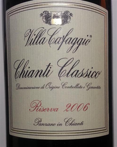 卡法乔经典基安蒂珍藏干红Villa Cafaggio Chianti Classico Riserva Sangiovese