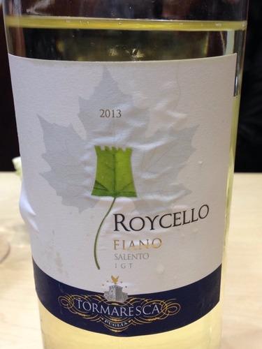 瑞斯卡萨伦托菲亚诺干白Tormaresca Roycello Fiano Salento
