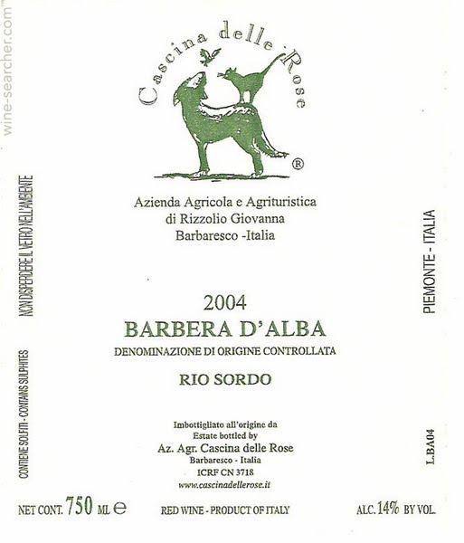 Cascina delle Rose Rio Sordo Barbera d'Alba