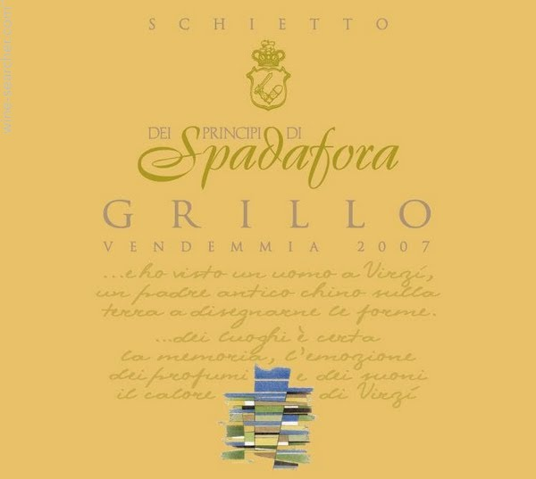 斯帕达格里洛干白Spadafora Grillo Sicilia Schietto