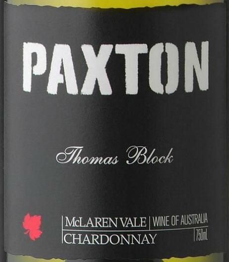 帕克斯顿汤姆斯园霞多丽干白Paxton Thomas Block Chardonnay