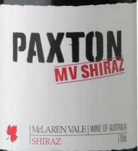 帕克斯顿MV西拉干红Paxton MV Shiraz
