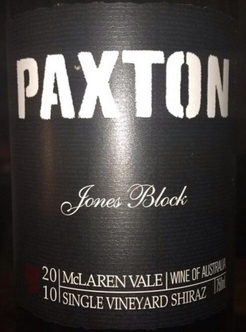帕克斯顿琼斯园西拉干红Paxton Jones Block Shiraz