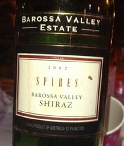 巴罗萨谷顶尖西拉干红Barossa Valley Estate Spires Shiraz