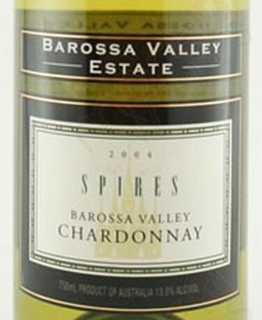巴罗萨谷顶尖霞多丽干白Barossa Valley Estate Spires Chardonnay