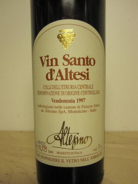 阿尔泰斯诺阿尔泰甜红Altesino Vin Santo d'Altesi
