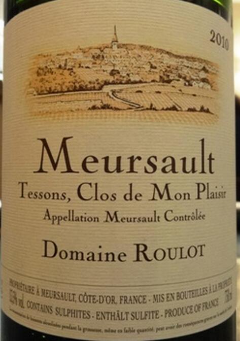 卢洛庄园梅索坦森干白Domaine Roulot Meursault Blanc Tessons Clos Mon Plaisir