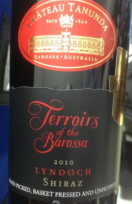 塔奴丹塔巴罗萨风土林道西拉干红Chateau Tanunda Terroirs of the Barossa Lyndoch Shiraz