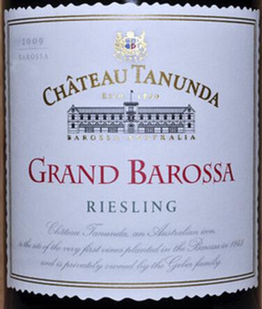 塔塔奴丹塔顶级巴罗萨雷司令干白Chateau Tanunda Grand Barossa Riesling