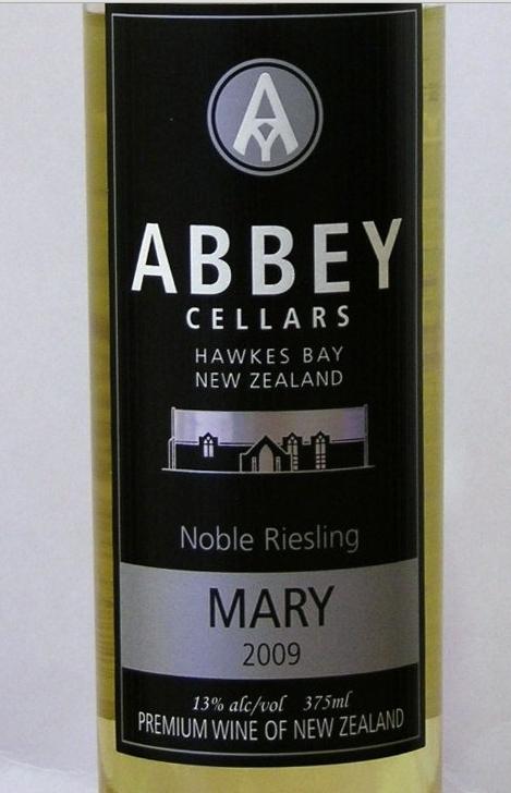修道院玛丽雷司令贵腐甜白Abbey Cellars Mary Noble Riesling