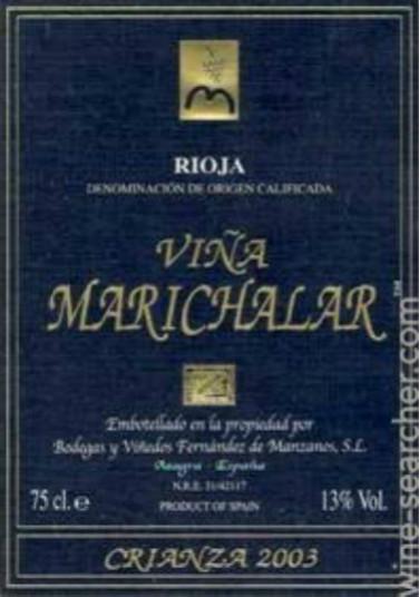 曼扎诺思酒堡玛丽奇拉陈酿干红Manzanos Wines Vina Marichalar Crianza