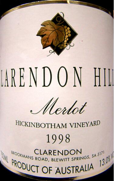克拉伦敦山希金博特园梅洛干红Clarendon Hills Hickinbotham Merlot