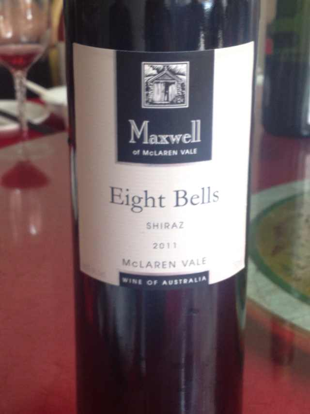 麦克斯韦八铃西拉干红Maxwell Wines Eight Bells Shiraz