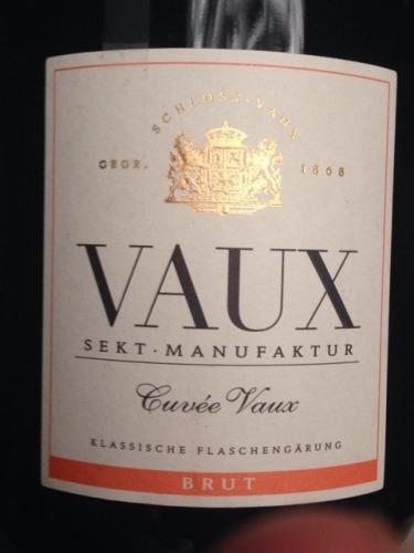 沃斯特酿气泡白葡萄酒 Sektmanufaktur Schloss Vaux AG Cuvée VAUX Sekt brut