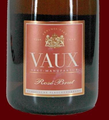 沃斯气泡玫瑰红葡萄酒 Sektmanufaktur Schloss Vaux AG Rosé Sekt brut
