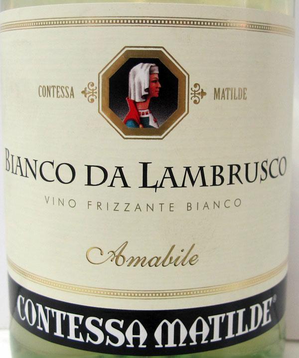 马蒂尔伯爵白甜起泡Contessa Matilde Bianco Da Lambrusco Amabile