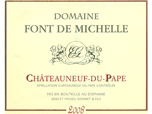 蜜雪庄园教皇新堡干红Domaine Font de Michelle Chateauneuf du Pape
