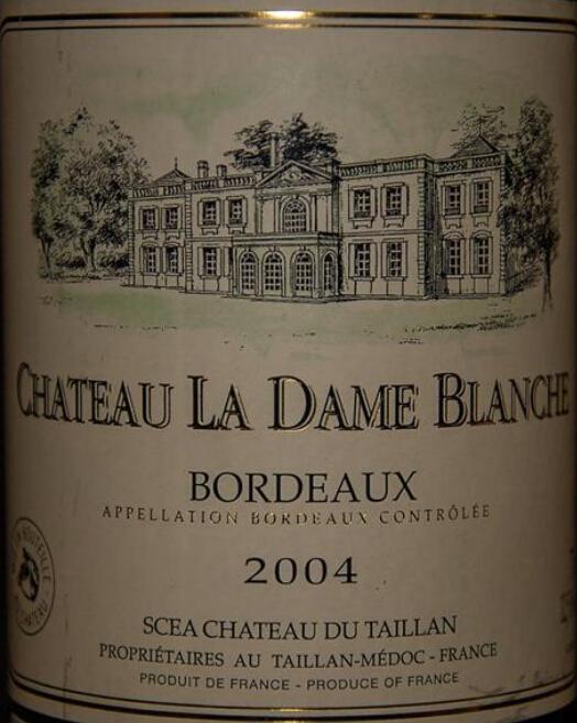 代扬女爵干白Chateau La Dame Blanc