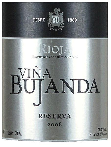 布罕达酒庄珍藏干红vina bujanda reserva tempranillo (rioja)