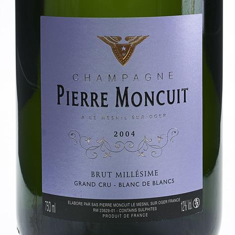蒙库特酒庄美尼尔特级园白中白天然干型香槟Pierre Moncuit Le Mesnil Grand Cru Blanc de Blancs Brut