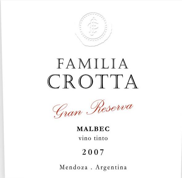克罗塔家庭系列特级珍藏马尔贝克干红Bodegas Crotta Familia Crotta Gran Reserva Malbec