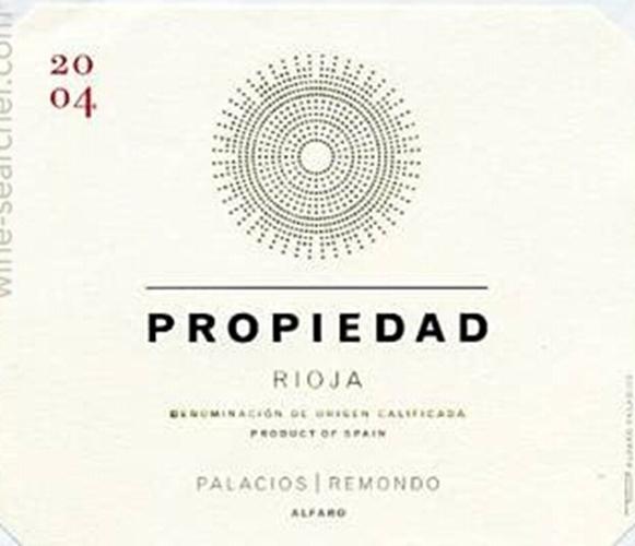 帕拉西奥斯埃伦西亚雷蒙多产权干红Bodegas Palacios Herencia Remondo Propiedad