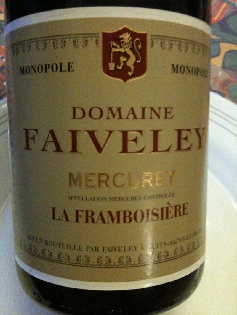 法维莱弗拉姆布瓦斯干红(梅尔居雷村)Domaine Faiveley La Framboisiere
