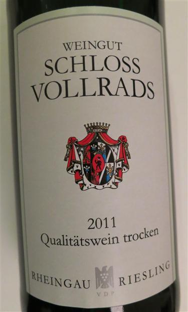 沃尔莱茨雷司令半干白(QMP)Schloss Vollrads Riesling Qualitatswein