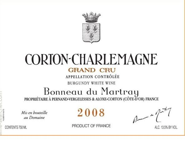 马莱特科尔登-查理曼园干白Domaine Bonneau du Martray Corton-Charlemagne Grand Cru