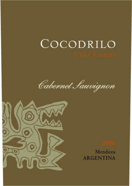 科沃斯科科迪赤霞珠干红Vina Cobos Cocodrilo Cabernet Sauvignon