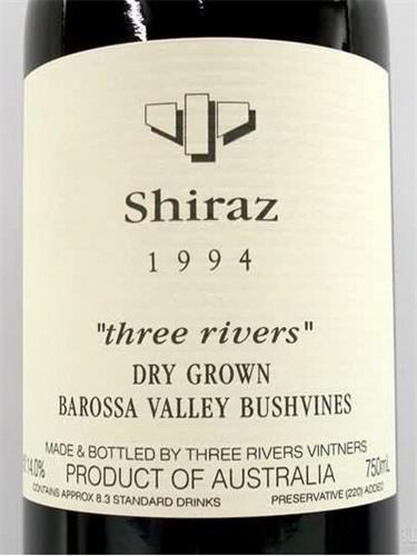 R Wines Chris Ringland Three Rivers Dry-Grown Shiraz