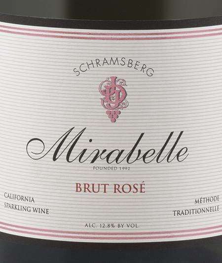 世酿伯格米勒贝拉桃红起泡酒Schramsberg Mirabelle Brut Rose