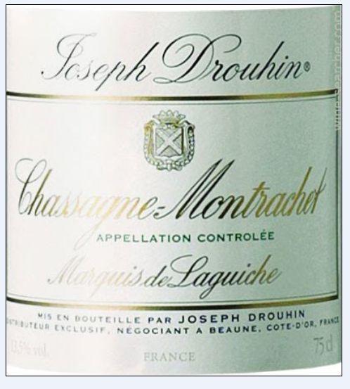 约瑟夫杜鲁安蒙哈榭拉格维奇园干白Joseph Drouhin Chassagne-Montrachet Marquis de Laguiche