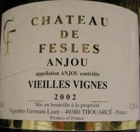 Chateau de Fesles Anjou Vieilles Vignes