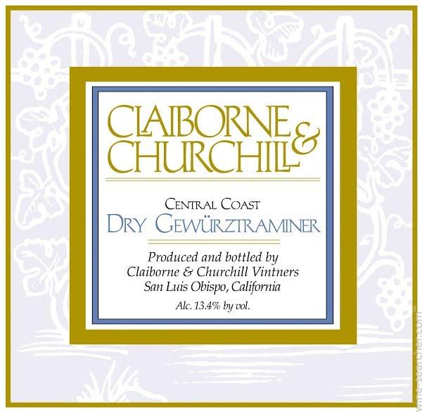 克莱本丘吉尔琼瑶浆干白Claiborne & Churchill Gewurztraminer Dry