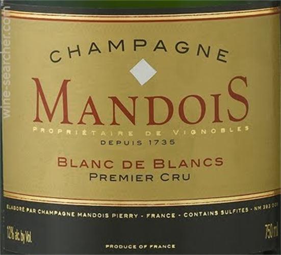 mandois blanc de blancs premier cru brut chardonnay (champagne)
